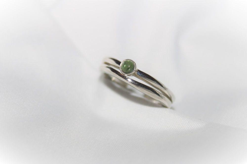 Green tourmaline rings