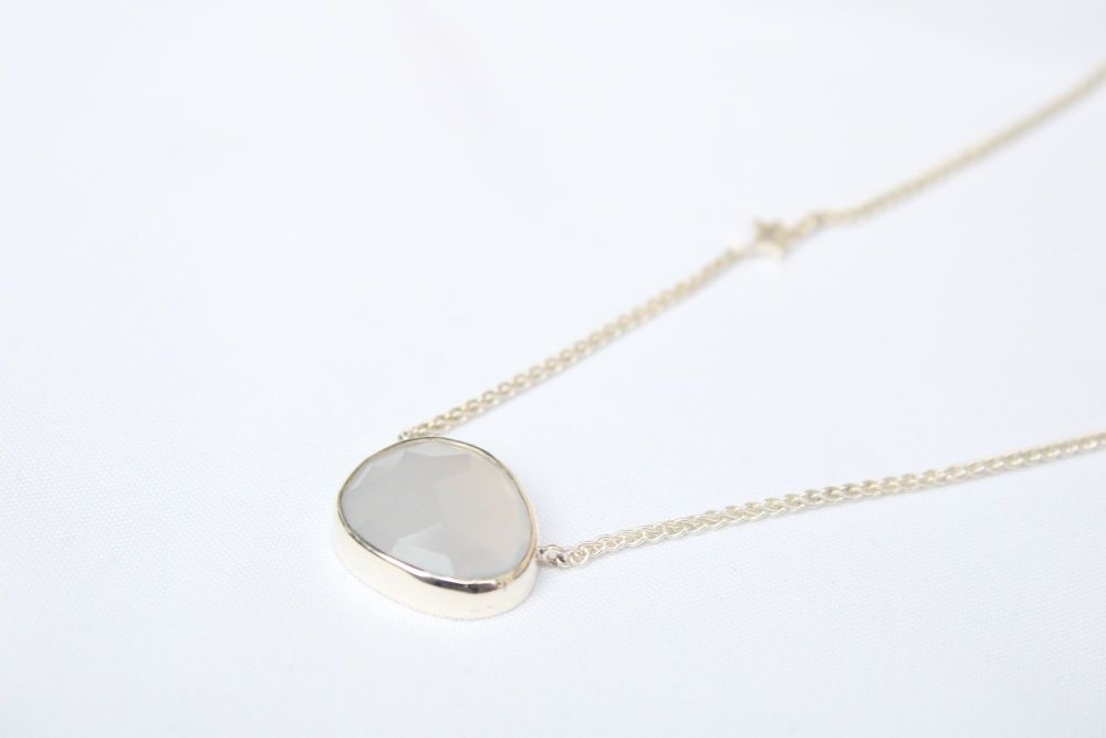 Silver, Chalcedony necklace
