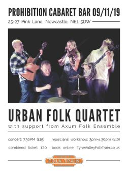 Urban Folk Quartet - Combined Workshop and Concert Ticket