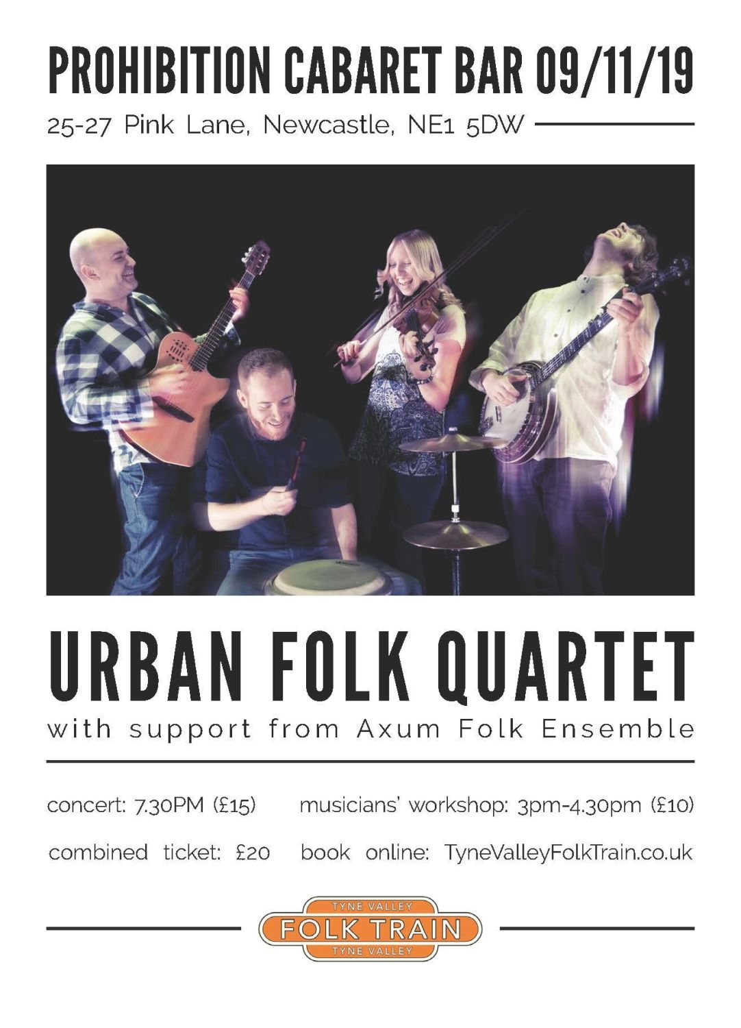Urban Folk Quartet - Concert Ticket ONLY