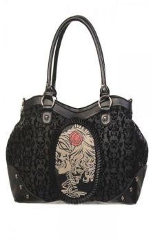 Flocked Cameo Lady Rose Bag BBN757