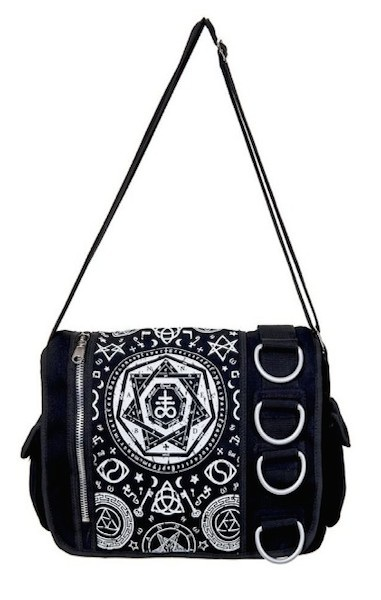 Pentagram Black Messenger Bag