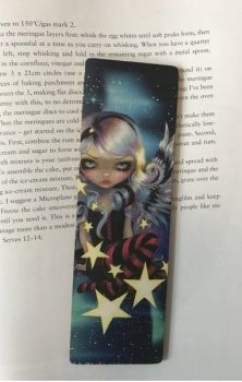 Angel of Starlight Wooden Bookmark