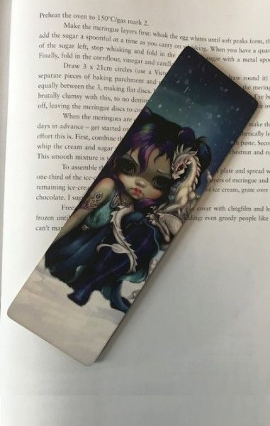 Frostling Dragon Wooden Bookmark