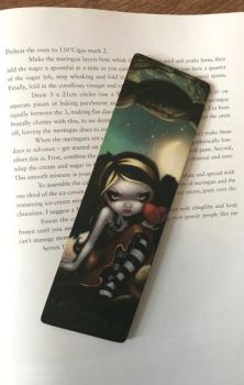 Heart of Nails Wooden Bookmark