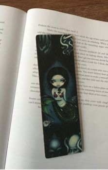 Mermaid with Celephapods Wooden Bookmark