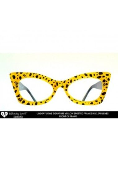 Yellow Spotted Glasses Clear Lens