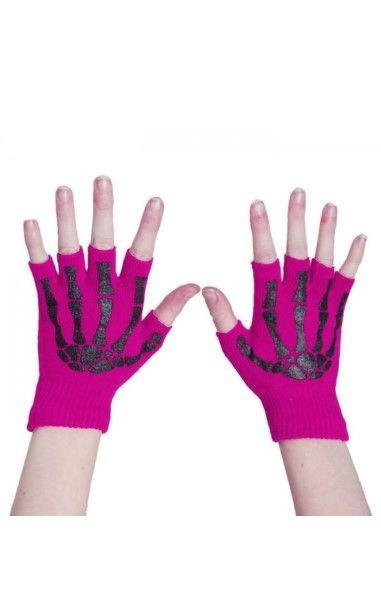 BGS Fingerless Gloves- Pink