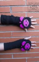 Purple Cat Paw Long Gloves RRP £9.99