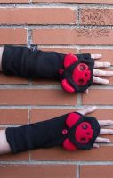 Red Cat Paw Long Gloves