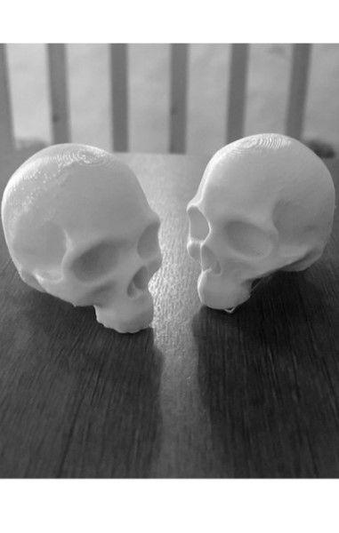 3D Printed Skull Hairclips