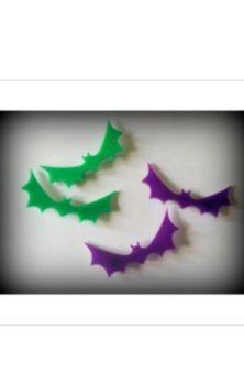 Bat Hair Clips- Purple