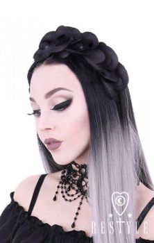 Black Orchids Headband