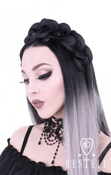 Black Orchids Headband