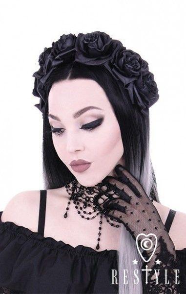 Black Roses Headband