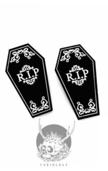 Coffin Hair Clips- Pair