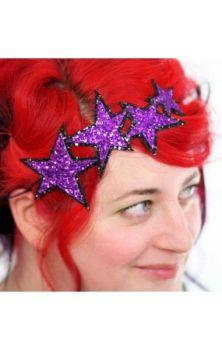 Glitters Stars Purple Hairband