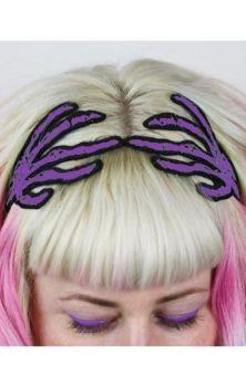 Skeleton Hands Hairband Purple