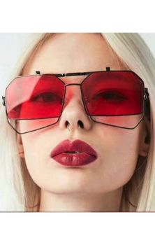 Red Geometric Sunglasses