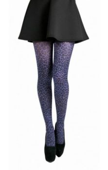 Purple Leopard Tights