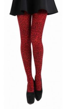 Red Leopard Tights