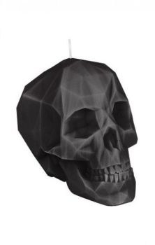 Crystal Skull Candle Black