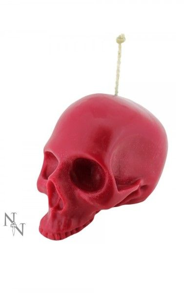 Red Skull Candle 18cm