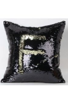 Mermaid Cushion Cover- Black/Gold
