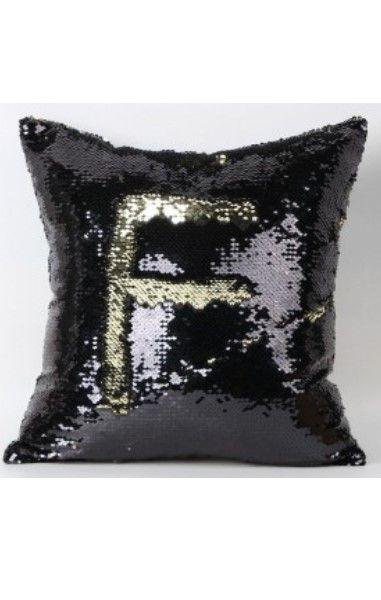 Mermaid Cushion Cover- Black/Gold