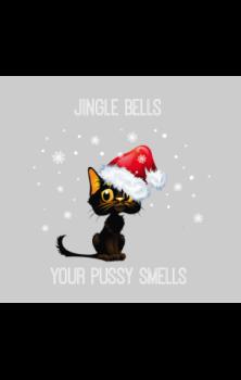 Jingle Pussy Christmas Card