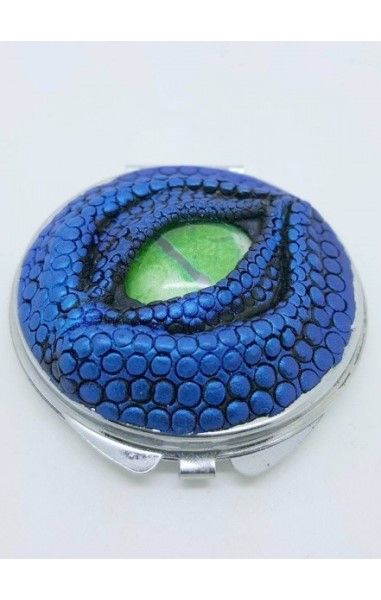 Dragon Eye Compact Mirror- Blue with Green Eye