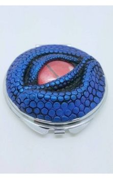 Dragon Eye Compact Mirror- Blue with Red Eye