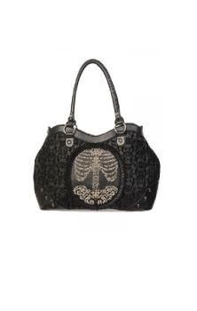 Flocked Cameo Ribcage Handbag BBN758