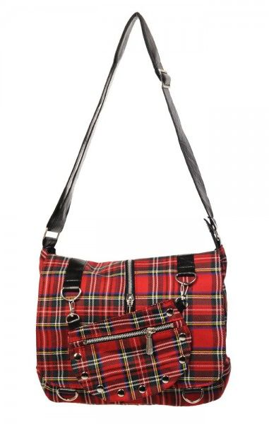 Tartan Bag Red And White