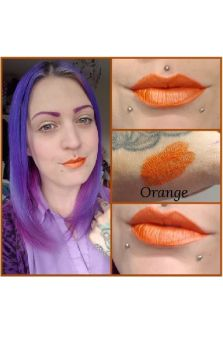 Orange Unicorn Goo Metallic Lipstick