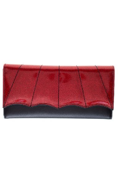 Bat Wing Wallet Red