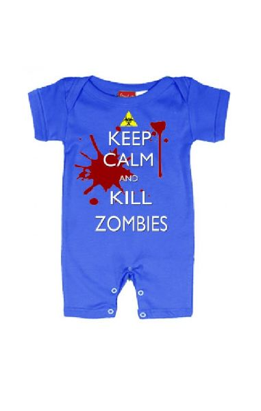 Keep Calm, Kill Zombies Baby Romper