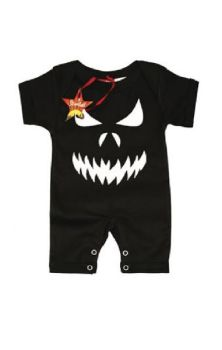 Scary Face Baby Romper