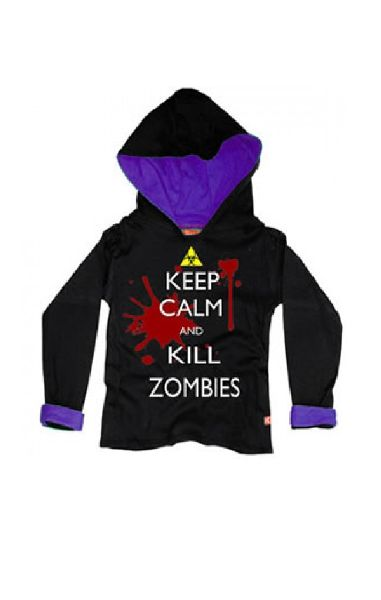 Keep Calm & Kill Zombies Boys Hood