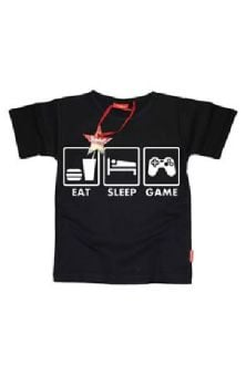 Eat Sleep Game Teen T Shirt