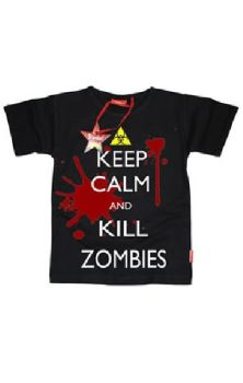 Keep Calm And Kill Zombies Boys T Shirt