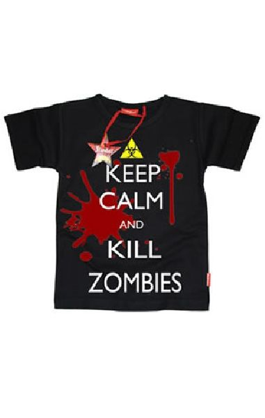 Keep Calm And Kill Zombies Teen T Shirt