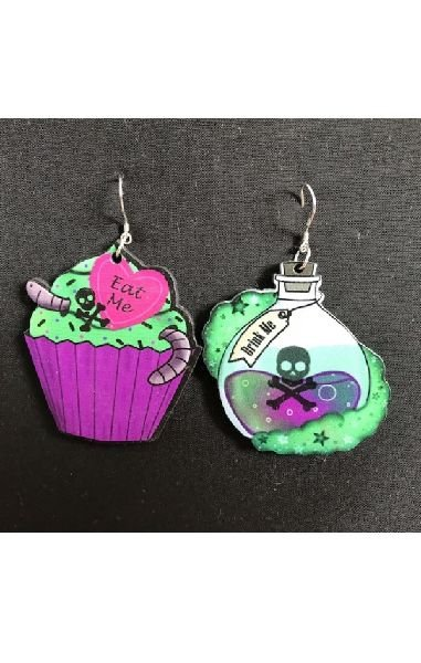Eat Me, Drink Me Earrings