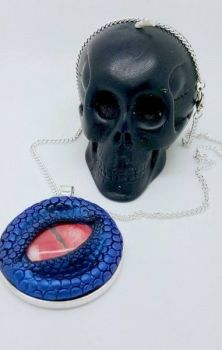 Dragon Eye Necklace - Blue with red eye