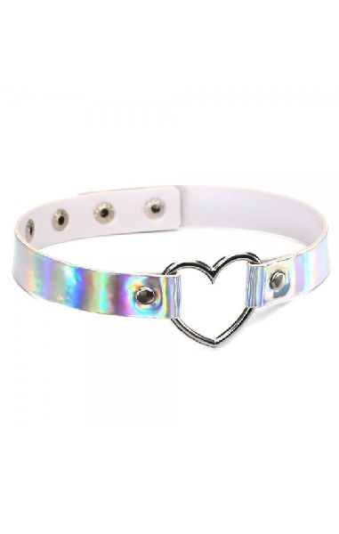 Rainbow Heart Choker