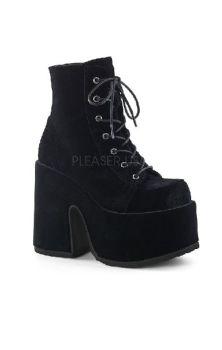 Camel 203 Black Velvet Boots