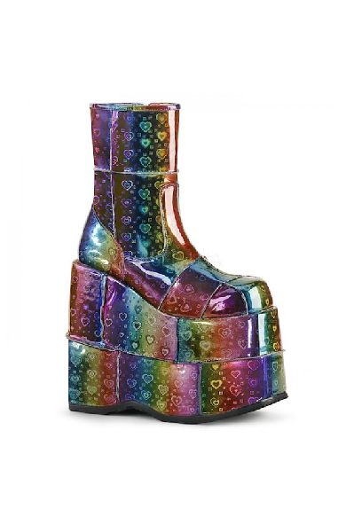 Stack 201 Rainbow Hearts Boots