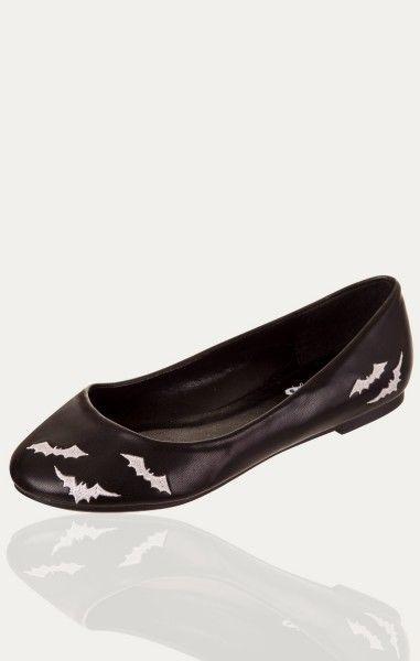 Bats Ballerina Shoes - White