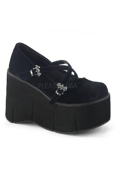 Kera 10 Black Velvet Maryjanes