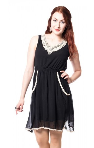 Beth Lace & Jersey Dress